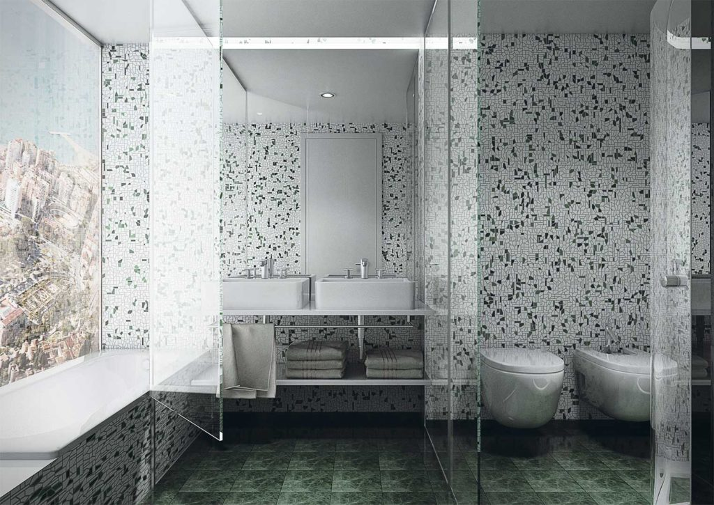 Hotel Miramar - Infografía cuarto de baño