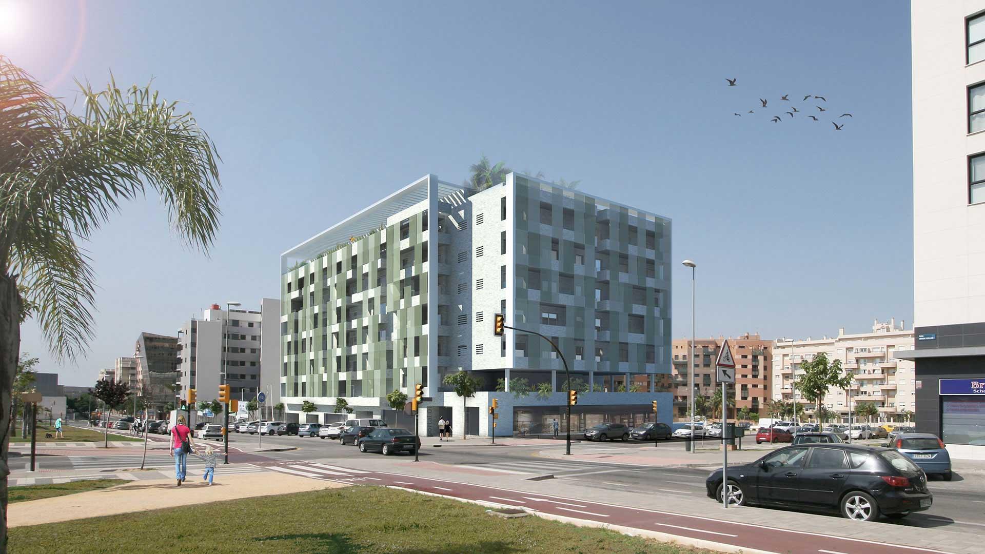 Concurso edificio de viviendas en teatinos lvaro cappa for Hotel diseno malaga