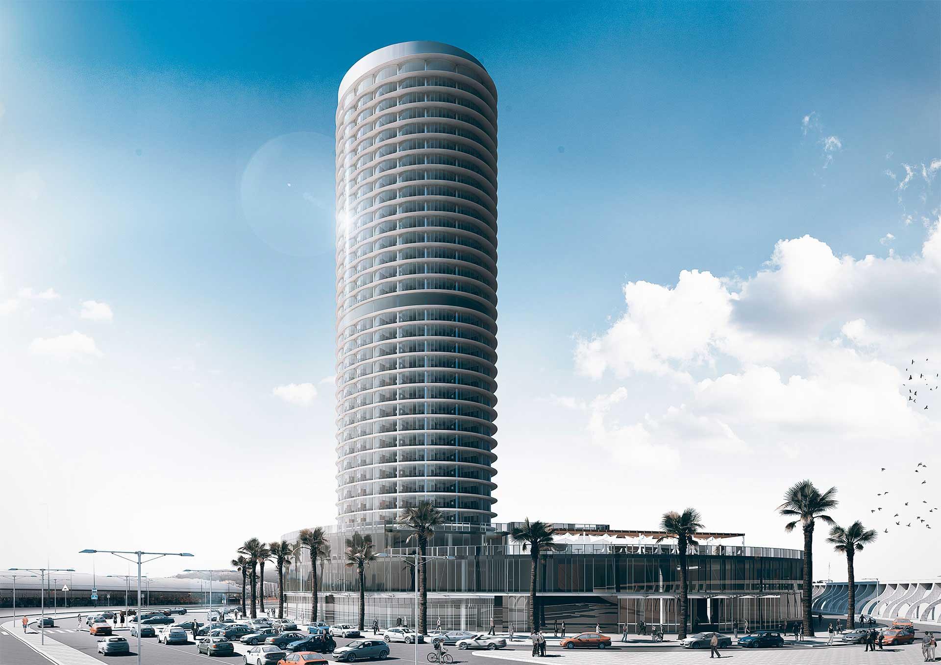 Render 3D - Proyecto de hotel de lujo en Málaga