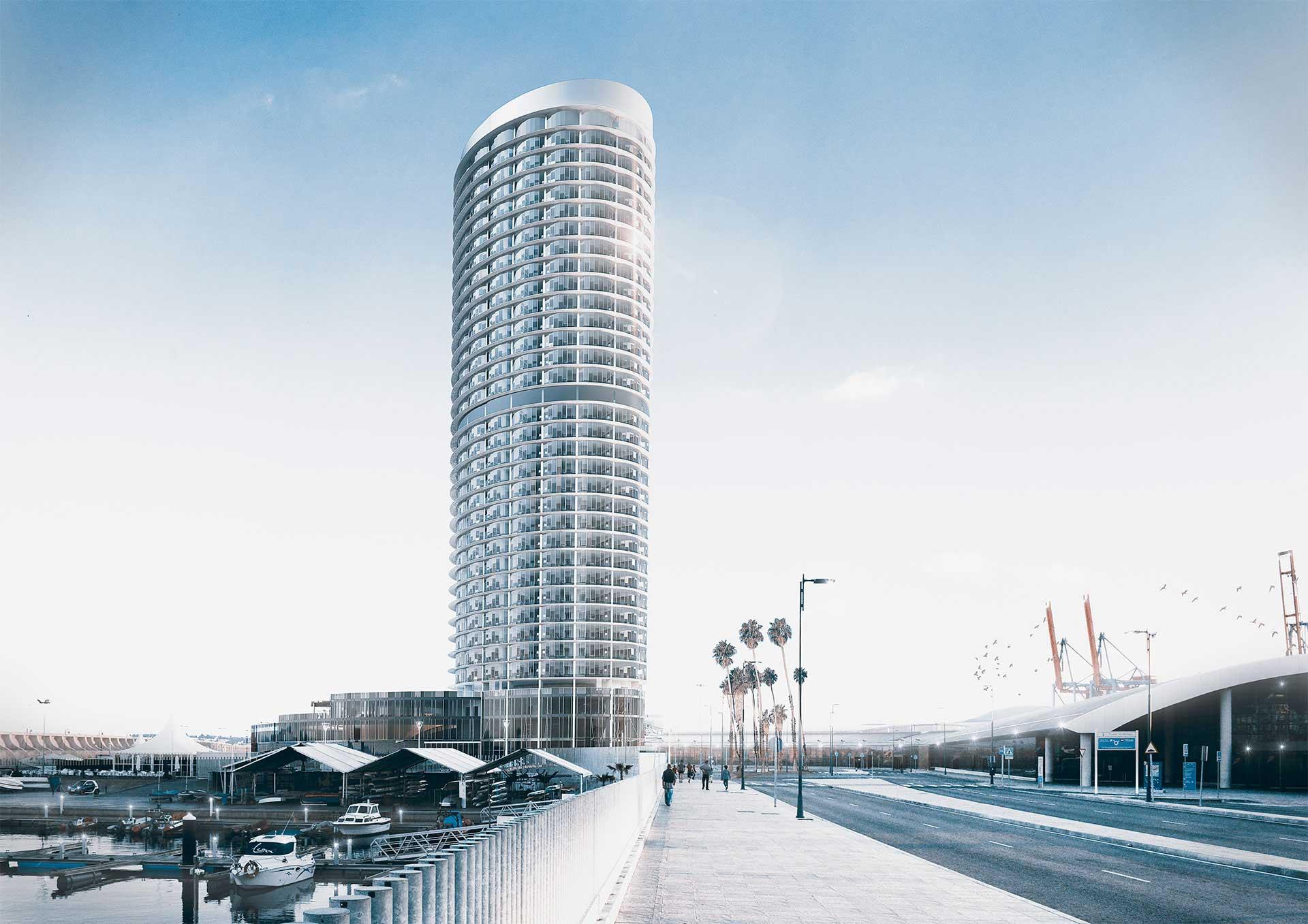 Infoarquitectura - Torre puerto de Malaga
